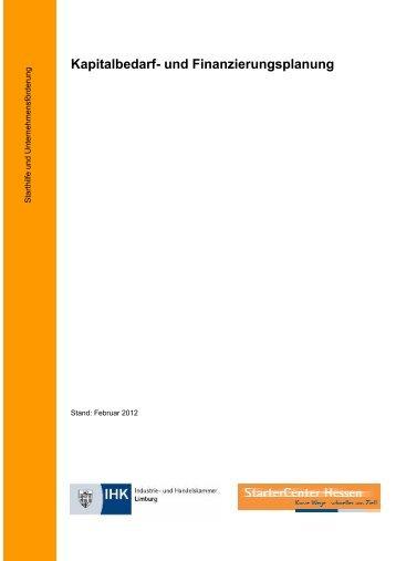 kapitalbedarf und finanzierungsplanung existenzgruendung - Rentabilitatsvorschau Muster