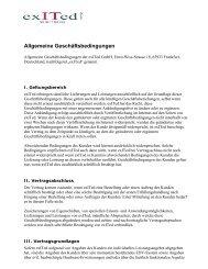 Allgemeine Geschäftsbedingungen - ExITed GmbH