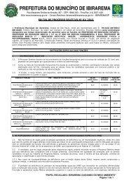 Edital de Processo Seletivo n. 01/2013 - Exitus Concursos