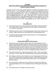 Satzung über Sondernutzungen - Stadt Asperg