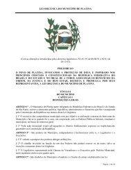 LEI ORGÂNICA DO MUNICÍPIO DE PLATINA - exitus consultoria e ...