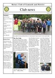 2012 - Club News 49 - Rotary Club of Exmouth & District