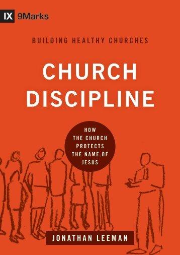 CHURCH DISCIPLINE - Exodus Books