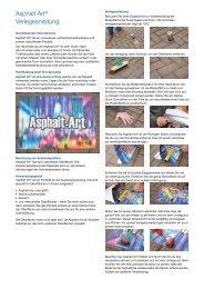 Asphalt Art® Verlegeanleitung - Asphalt Art International AG