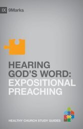 Hearing God's Word: Expositional Preaching - Exodus Books