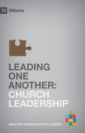 Leading One Another: Church Leadership - Exodus Books