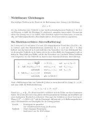 Nichtlineare Gleichungen