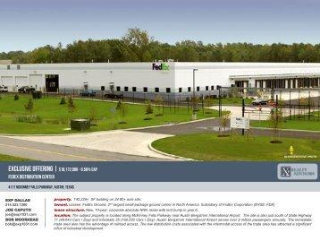 Fedex distribution center - EXP Realty Advisors