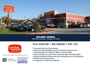 Golden Corral - EXP Realty Advisors