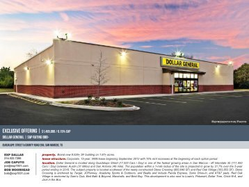 Dollar general | S&P Rating BBB- - EXP Realty Advisors