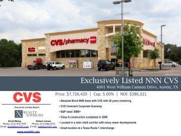 new nnn cvs zero cash flow leasehold 1057 exp realty