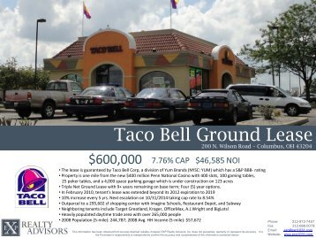 Taco Bell Ground Lease - EXP Realty Advisors