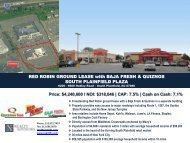 RED ROBIN GROUND LEASE With BAJA FRESH & QUIZNOS SOUTH
