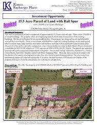 15.5 Acre Parcel of Land with Rail Spur - EXP Realty Advisors