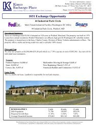 1031 Exchange Opportunity - EXP Realty Advisors
