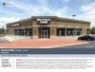 Mattress Firm - EXP Realty Advisors