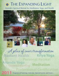 A place of inner transformation - The Expanding Light