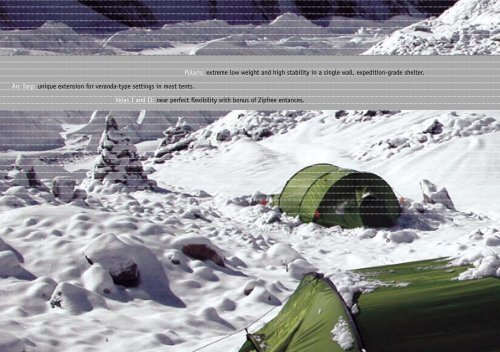 Polaris: extreme low weight and high stability in ... - Exped.com exped