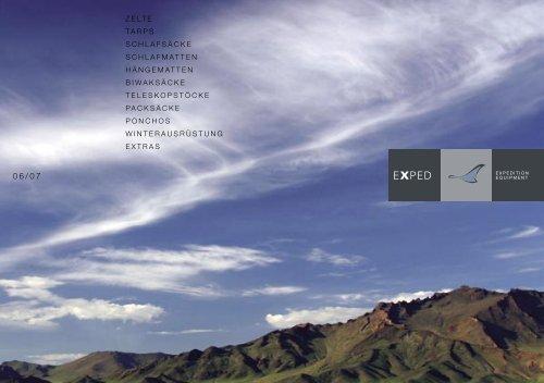 Exped_Katalog 06.pdf - Tents, Tarps, Mosquito Nets, Hammocks ...
