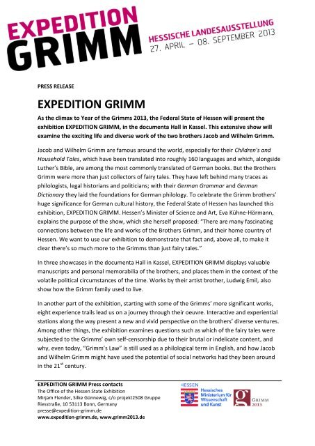 EXPEDITION GRIMM