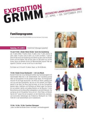 Familienprogramm - Expedition Grimm