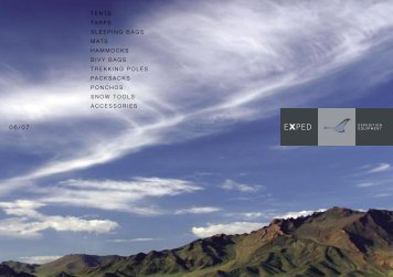 Exped_Catalog 06.pdf - Tents, Tarps, Mosquito Nets, Hammocks ...