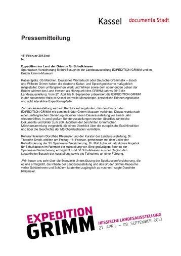 Pressemitteilung - Expedition Grimm