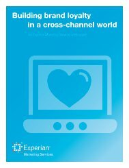 Building brand loyalty in a cross-channel world - Experian