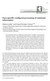 Face-specific configural processing of relational information