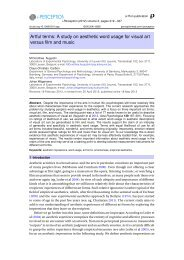 Artful terms: A study on aesthetic word usage for visual ... - i-Perception