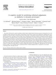 A cognitive model for predicting esthetical judgements as similarity ...