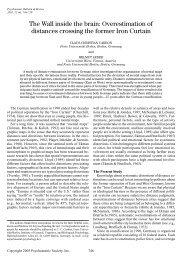 The wall inside - Experimental-psychology.com