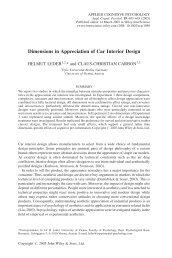 Dimensions in appreciation of car interior design - Experimental ...