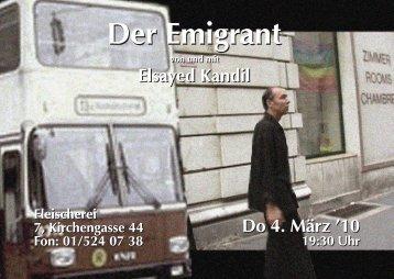 Der Emigrant - FLEISCHEREI