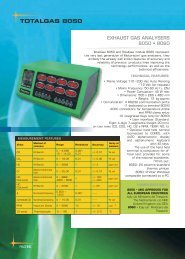 EXHAUST GAS ANALYSERS