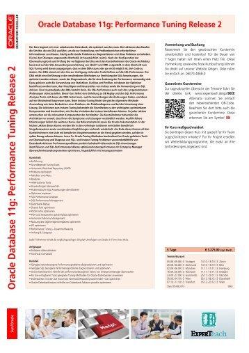 Oracle Database 11g: Performance Tuning Training Course