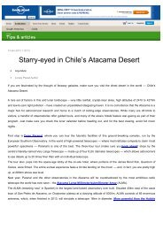 Starry-eyed in Chile's Atacama Desert - Explora