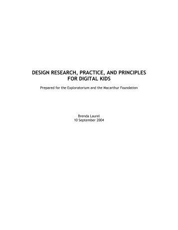 design research, practice, and principles for - Exploratorium