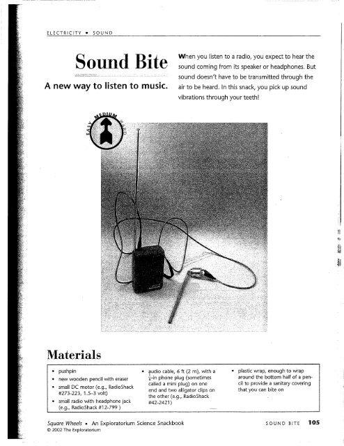 Sound Bite - Exploratorium