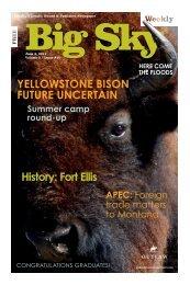 yellowstone bison future uncertain History: fort ellis - Explore Big Sky