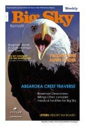 Absaroka ski traverse - Explore Big Sky
