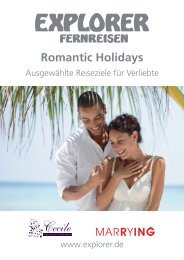Romantic Holidays Katalog 2012/13 - Explorer Fernreisen