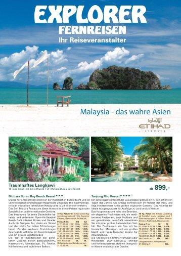 Malaysia - das wahre Asien - Explorer Fernreisen