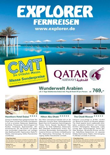 Wunderwelt Arabien www.explorer.de - Explorer Fernreisen