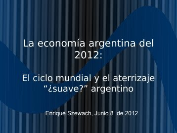 Perspectivas económicas - Lic. Enrique Szewach - ExpoFarmacia