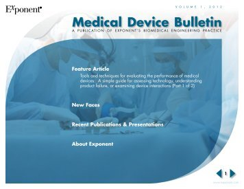 Medical Device Bulletin - Exponent