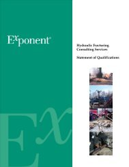 Hydraulic Fracturing Consulting Services Statement of ... - Exponent