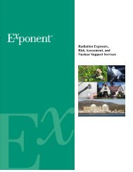 Radiation Exposure, Risk Assessment, And Nuclear - Exponent