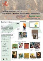 Weihnachtsbilletts 2009 – mit Motiven steirischer ... - Export.co.at