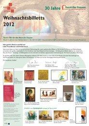 Weihnachtsbillett – Bestellinfo - Export.co.at